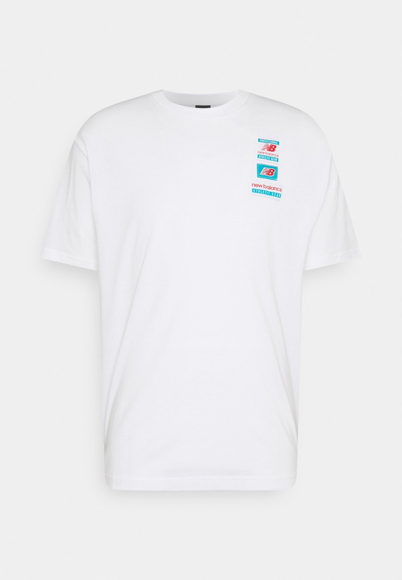 New Balance - ESSENTIALS TAG TEE - Basic T-shirt - white