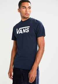 Vans - CLASSIC - Print T-shirt - navy/white - 0