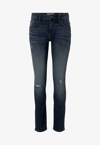PIERS - Slim fit jeans - used dark stone blue denim