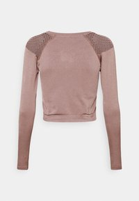 ONLY Play - ONPJABRIL SHORT - Long sleeved top - deep taupe - 7