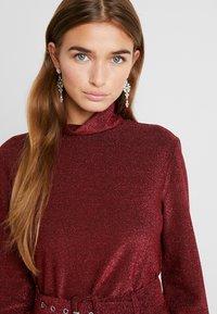 VILA PETITE - VIGLAMY ROLLNECK - Long sleeved top - black/raspberry/tawny port - 4