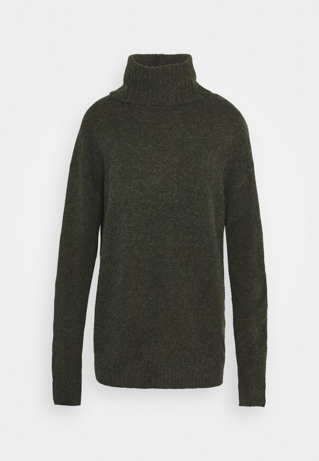 VIHANNA ROLLNECK - Strikkegenser - forest night melange