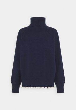 CLEMMIE TURTLE NECK - Jumper - navy