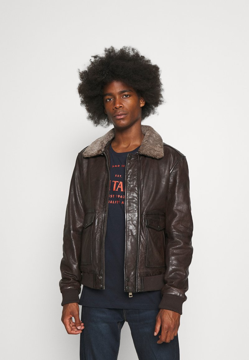 Serge Pariente - NEW PILOT - Leather jacket - brown
