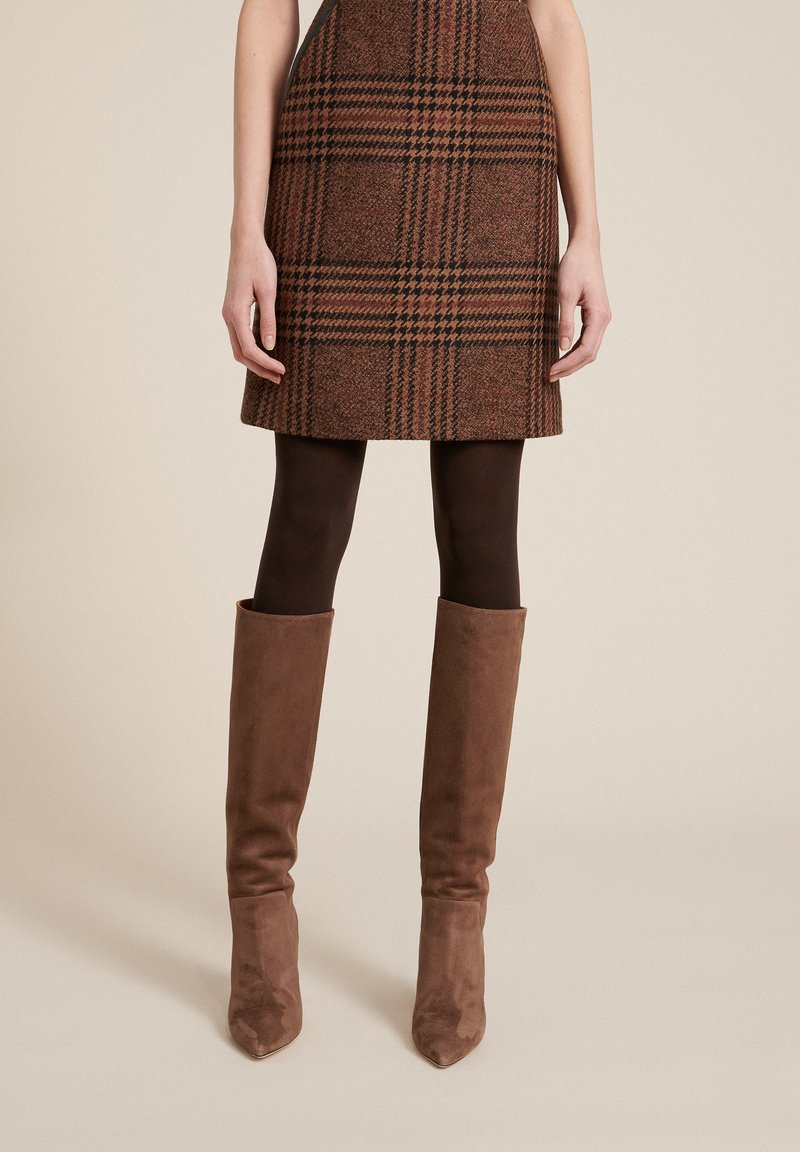 Luisa Spagnoli - FORME - A-line skirt - var nocciola/marrone