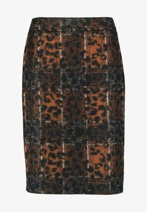 Pencil skirt - hazelnut schwarz offwhite