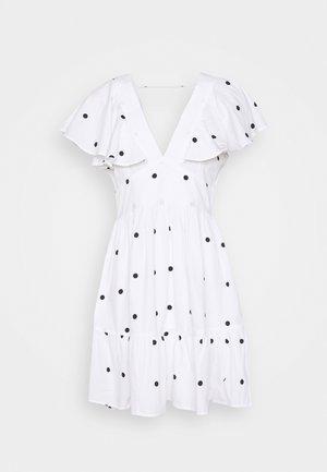 SOPHIE DRESS - Juhlamekko - white/black