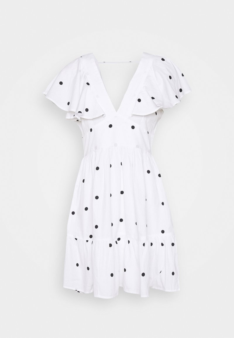 Gina Tricot - SOPHIE DRESS - Cocktail dress / Party dress - white/black