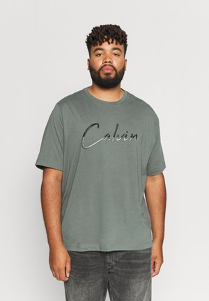 SCRIPT - Print T-shirt - balsam green