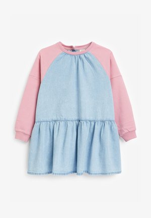 RAGLAN - Denim dress - pink