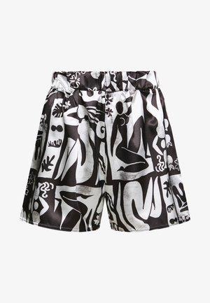 ABSTRACT DRAWSTRING - Shorts - black/white