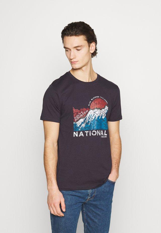 T-shirt con stampa - dark navy