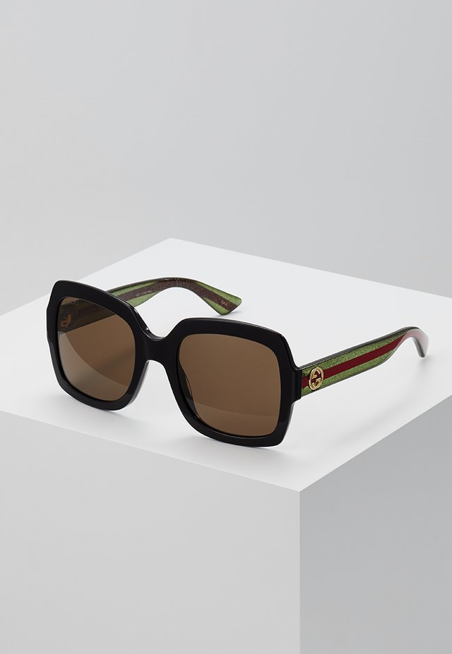 Sonnenbrille - black/gree/brown