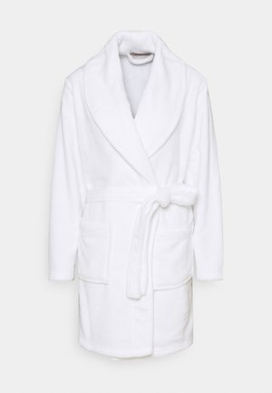 LADIES PLUSH BATHROBE  - Kylpytakki - white