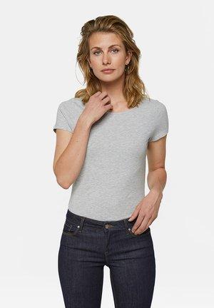 WE FASHION DAMEN-T-SHIRT AUS BIO-BAUMWOLLE - Basic T-shirt - light grey