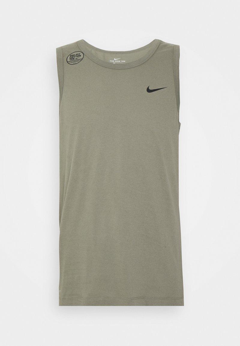 Nike Performance - DRY TANK SOLID - Sports shirt - light army/black