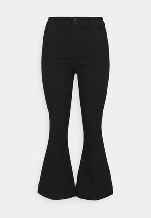 VMSHINY FLARE CURVE - Flared Jeans - black