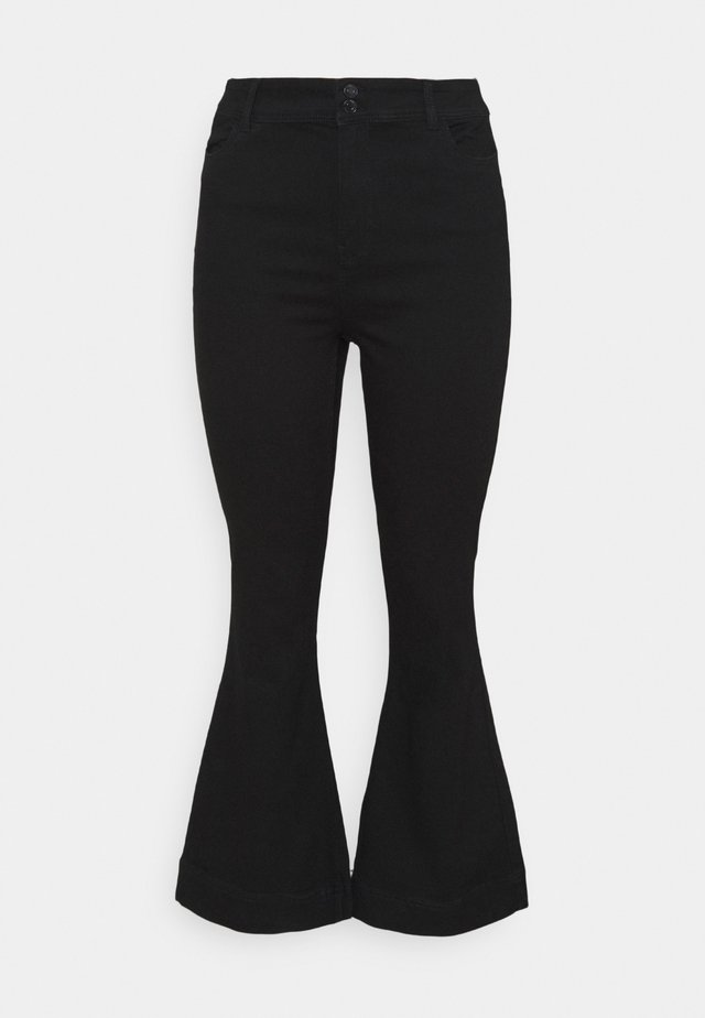 VMSHINY FLARE CURVE - Flared jeans - black