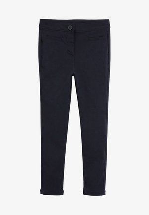 NAVY SKINNY STRETCH TROUSERS  - Trousers - blue