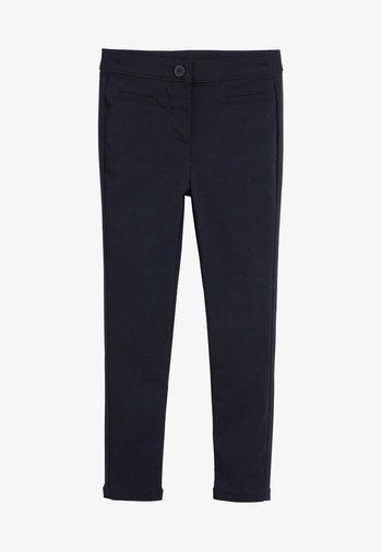 NAVY SKINNY STRETCH TROUSERS  - Kalhoty - blue