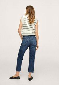 Mango - Straight leg jeans - donkerblauw - 2