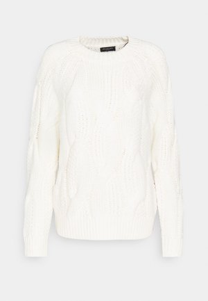 SLFBEAN CABLE O NECK - Jumper - snow white