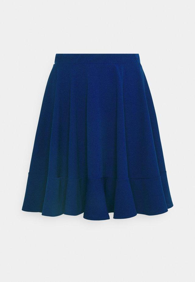 ALYSSA SKATER  - A-line skirt - electric blue