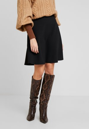 Mini skirt - black/black