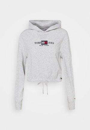 CROP TIMELESS HOOD - Sweatshirt - silver grey heater