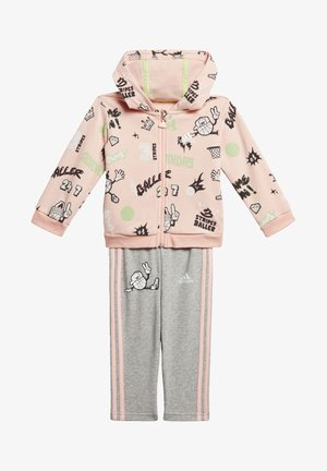 FRENCH TERRY GRAPHIC - Tracksuit - pink