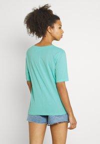Weekday - LAST V NECK - Basic T-shirt - turqoise green - 2