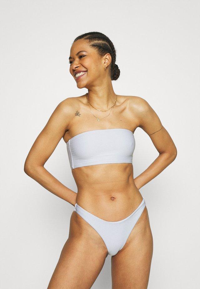 ESSENTIALS TUBE TOP HIGH CUT PANT SET - Bikini - white