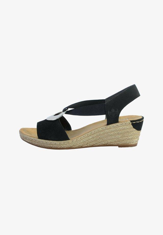 Sandales compensées - noir