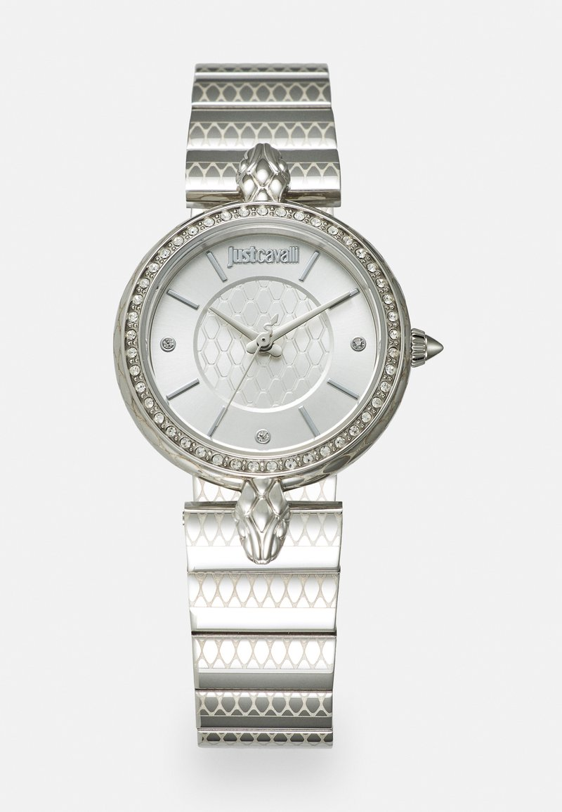 Just Cavalli - SILVER LION WATCH - Watch - silver-coloured sunray