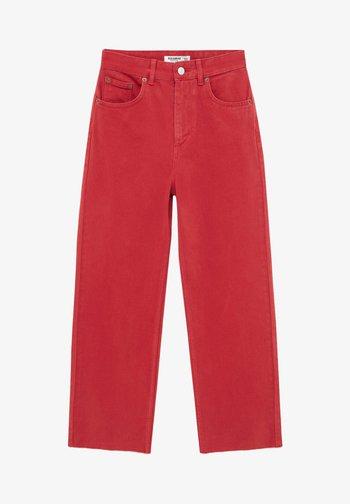 CROPPED - Straight leg -farkut - red