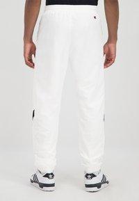 Champion Rochester - ROCHESTER - Tracksuit bottoms - white/black/white - 1