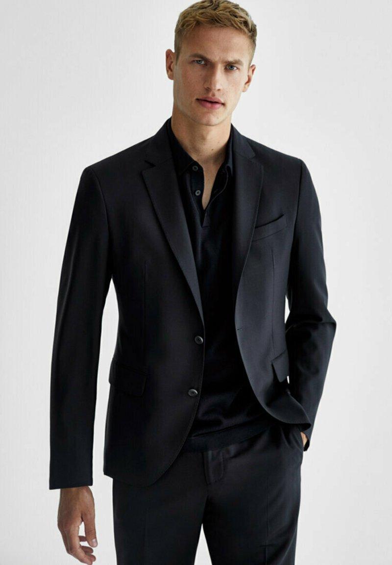 Massimo Dutti - SLIM-FIT - Suit jacket - dark blue