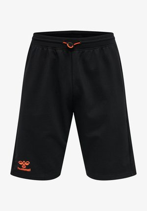 Sports shorts - black/fiesta
