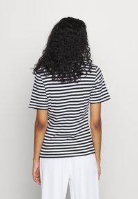 NA-KD - STRIPED TEE - T-shirt print - black/white - 2