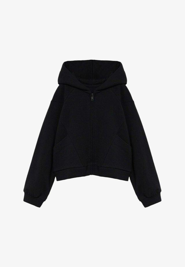 EVA - veste en sweat zippée - zwart