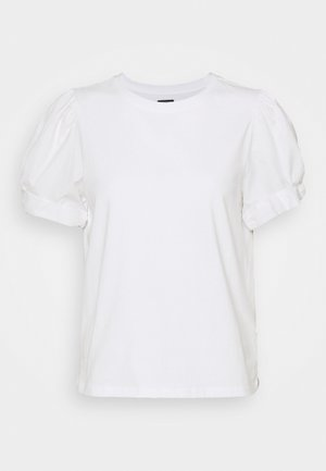 MIX PUFF - T-shirt - bas - white