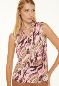 comma - Blouse - pink zebra lines - 0