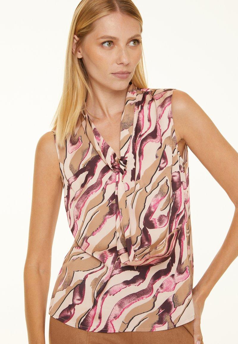 comma - Blouse - pink zebra lines