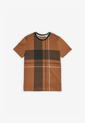 Print T-shirt - tan