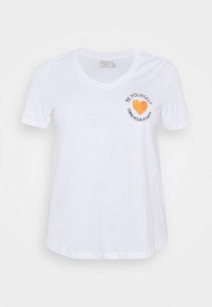 KCLONIE - Print T-shirt - optical white