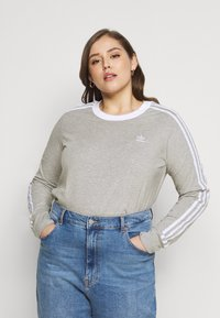 adidas Originals - Long sleeved top - grey heather/white - 0