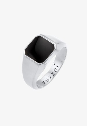 CHUNKY SQUARE BLACK - Bague - silber