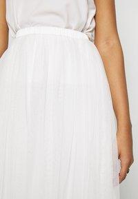 Lace & Beads - VAL SKIRT - A-line skjørt - white - 4