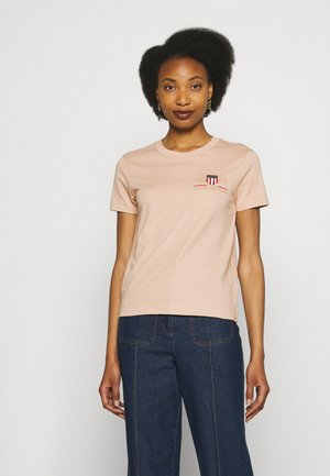ARCHIVE SHIELD  - Print T-shirt - dry sand