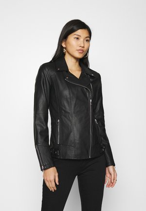 DARCEY BIKER - Leather jacket - black